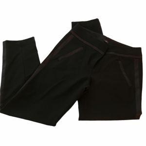 Ann Taylor Loft Black Tuxedo Cropped Pants